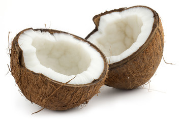 coconut cutted in half