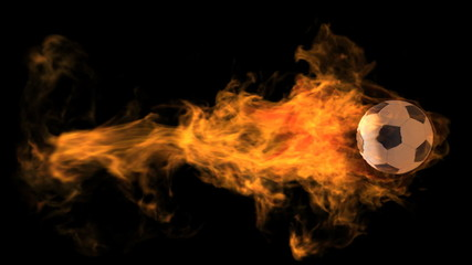 Loopable Flaming Soccer Ball with Alpha Channel
