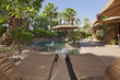 Luxury Villa with water feature and sun beds