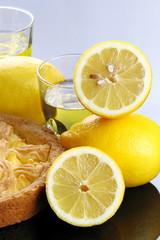 Crostata con crema di limoni e limoncello