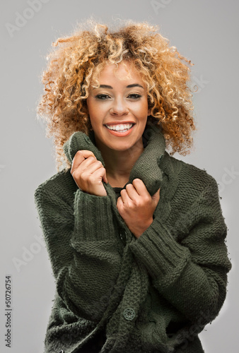 Cute Afro Woman