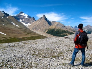 Hiker on Parker Ridge