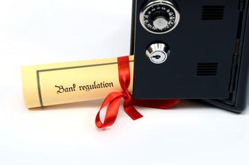 Bank regulation and steel safe