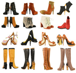 different set of women's shoes