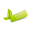 100% eco sticker