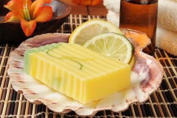 Lemon Lime Glycerin Soap