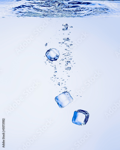 Ice Cubes in Water