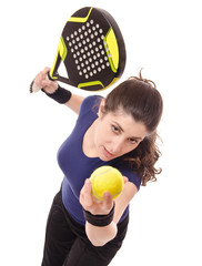 Paddle tennis serve