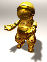 humanoid Robot in gold