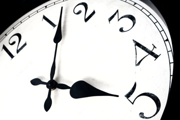 Clock face indicating concept of 'quitting time'