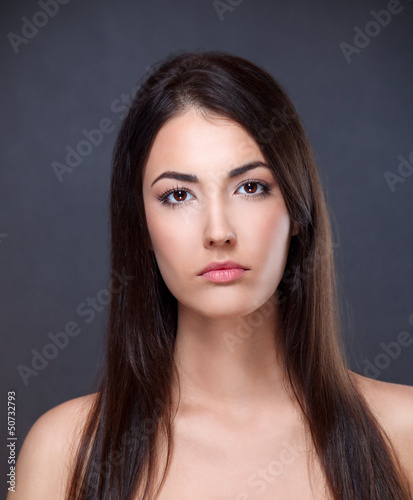 Beauty portrait of a young brunette
