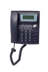 modern black phone call ord isolated on white background clippin