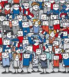 Supporters français en délire qui encourage leur équipe poster