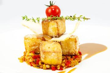 Сыр тофу под пряным соусом