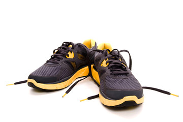 Running shoe with shoe lace