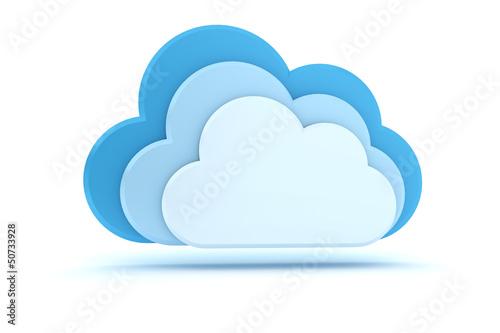 3 blaue Wolken - Cloud-Computing