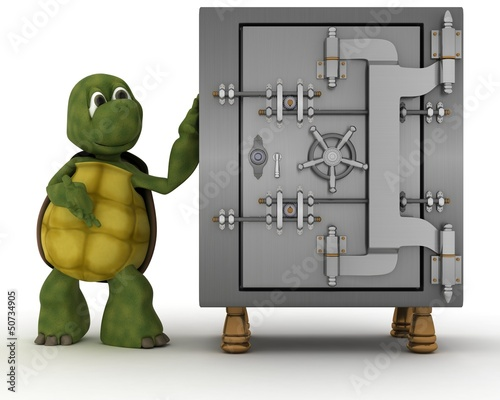 tortoise with bank vault