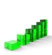 3D Glas Bausteine - Aufwärtstrend Grün