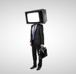businessman with tv head
