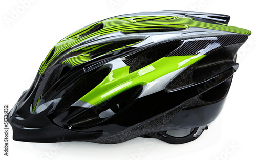 Bicycle Helmet Isolated On White