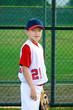 Youth baseball portrait