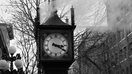 Steam powered clock. Vancouver, BC.