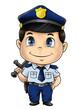 Cute cartoon illustration of a policeman