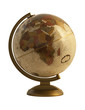 Antique globe on white