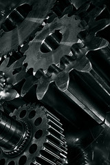 titanium and steel engineering gears