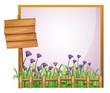 A frame with flowers and the empty board