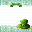 A stationery for St. Patrick's Day with a hat and coins