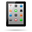 Vector Tablet with App Icons