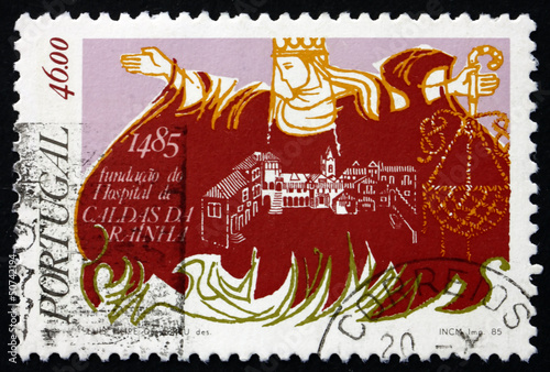 Postage stamp Portugal 1985 Caldas da Rainha Hospital