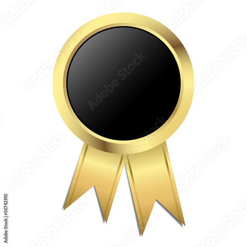 Vorlage Gütesiegel - gold mit schwarz
