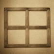 grunge wood frame background, vintage paper texture