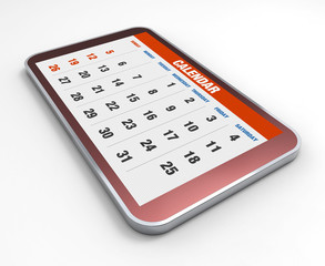 Mobile phone with calendar