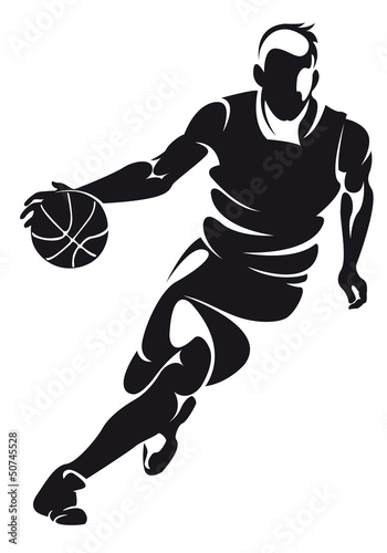 basketball player, silhouette