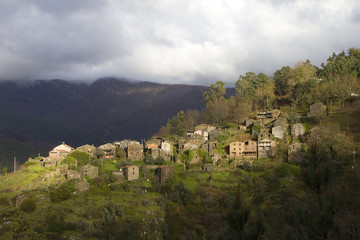 Small typical mountain village of schist in Serra da Lousã