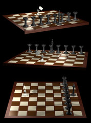 Chess allegory opposition citizen and government
