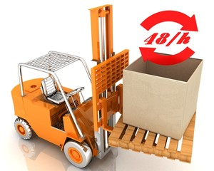 lift truck with a large box-delivery (48/h)