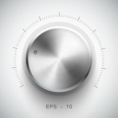Technology music button (volume settings, sound control knob)