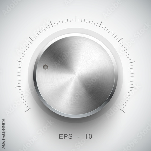 Technology music button (volume settings, sound control knob)