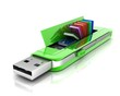 USB flash drive 3D. , Which contains the data