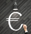hand drawing euro