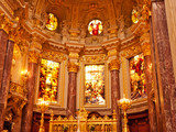 Altar in the Berlin cathedral, Germany