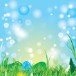 Beautiful spring easter background