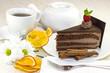 Шоколадно-кремовый торт