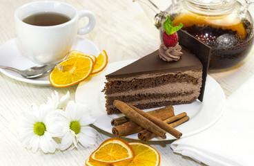 Шоколадный торт к вечернему чаю