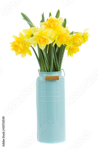 bouquet of narcissus in vase
