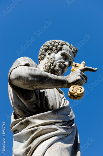 Petrusstatue am Petersdom Rom - Saint Peter Sculpture Rome
